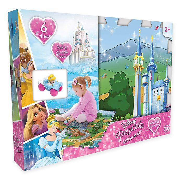 Alternate image 1 for Disney® Princess 6-Piece Mega Floor Mat with Vehicle