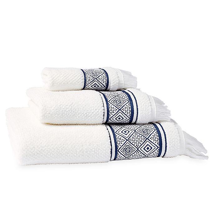 Peri Home Towels: Peri Home Medallion Bath Towel In Indigo