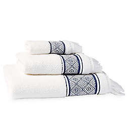 Peri Home Medallion Fingertip Towel in Indigo