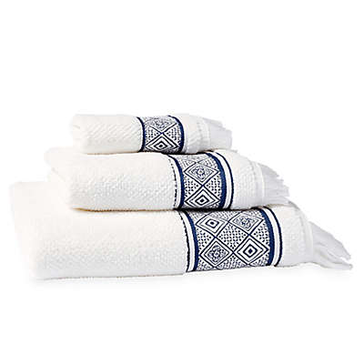 Peri Home Medallion Hand Towel in Indigo