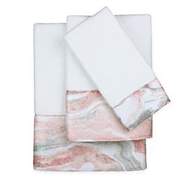 Colordrift Marble Swirl Fingertip Towel in Blush