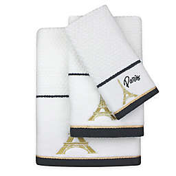 Colordrift Paris Dobby Bath Towel In White Gold