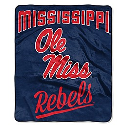 University of Mississippi Raschel Throw Blanket