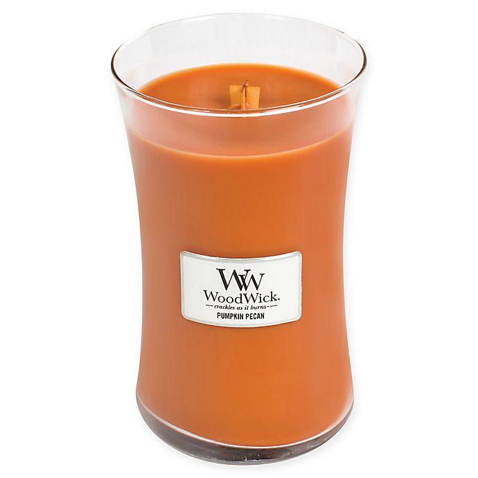 Alternate image 1 for WoodWick® Pumpkin Pecan Large Jar Candle