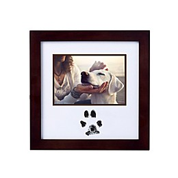 Pearhead® Pawprints 4-Inch x 6-Inch Photo Frame and Clean-Touch Ink Pad Kit in Espresso