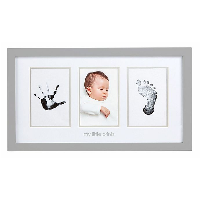 Alternate image 1 for Pearhead® Babyprints 3-Opening 4-Inch x 6-Inch Picture Frame
