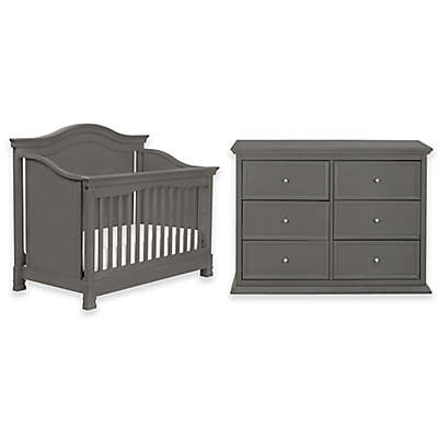 Million Dollar Baby Classic 4-Piece Louis Nursery Bundle Set in Manor Grey