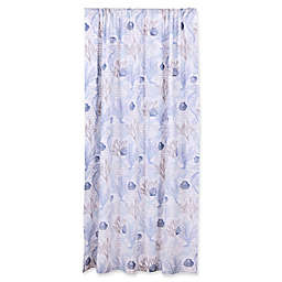 Levtex Home Sag Harbor 84-Inch Rod Pocket Window Curtain Panel in Blue/Taupe