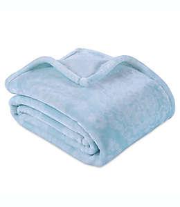 Frazada Berkshire Blanket® VelvetLoft® con estampado de medallones en aqua