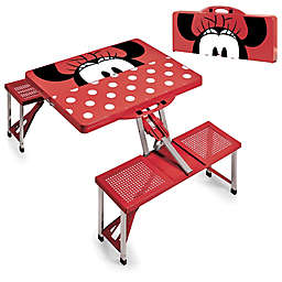 Picnic Time® Disney® Minnie Mouse Picnic Folding Table with Seats in Red