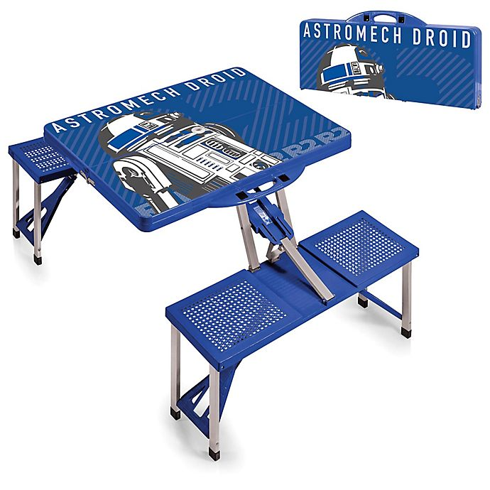 Alternate image 1 for Picnic Time® Star Wars™ R2-D2 Picnic Folding Table with Seats in Blue