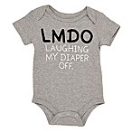 "Baby Starters® Size 12M ""LMDO Laughing My Diaper Off"" Bodysuit in Grey"
