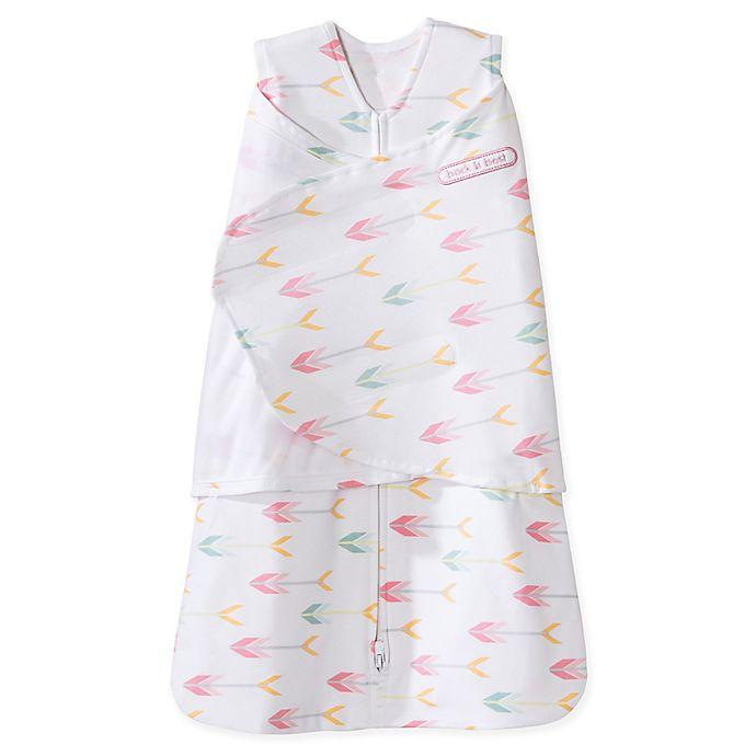 Alternate image 1 for HALO® SleepSack® Small Arrow Multi-Way Adjustable Cotton Swaddle in Pink