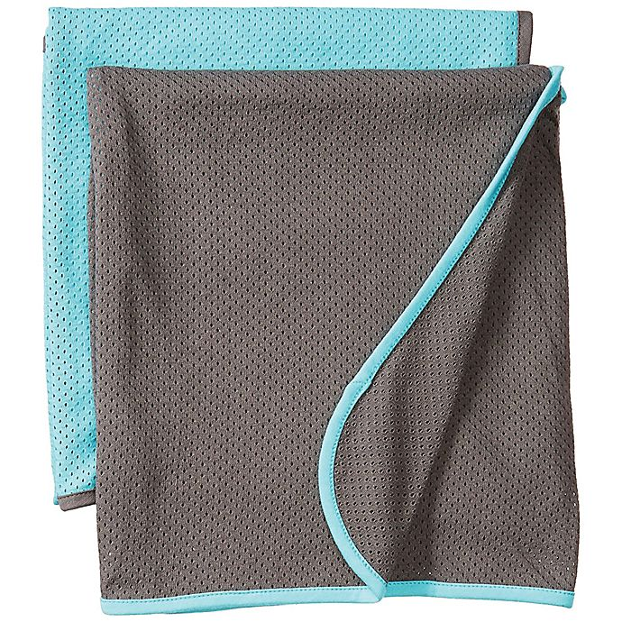 Alternate image 1 for Baby K'tan® 2-Pack Swaddle Blankets in Teal/Charcoal