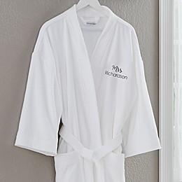 Mrs.Velour Robe in White