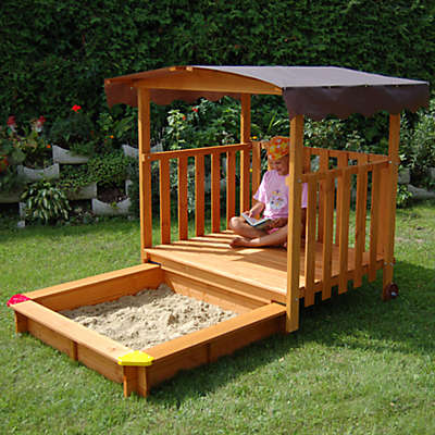 Playhouse Sandbox with Rolling Cover