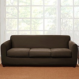 Sure Fit® 4-Piece Stretch Suede Sofa Slipcover