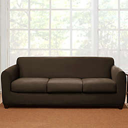 Sure Fit 4 Piece Stretch Suede Sofa Slipcover