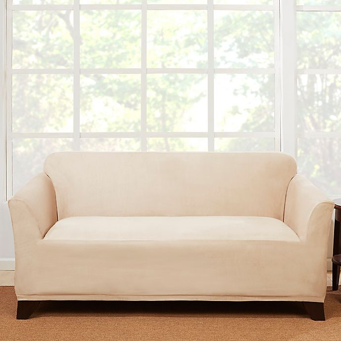Phenomenal Sure Fit Stretch Suede Loveseat Slipcover Bed Bath Beyond Unemploymentrelief Wooden Chair Designs For Living Room Unemploymentrelieforg