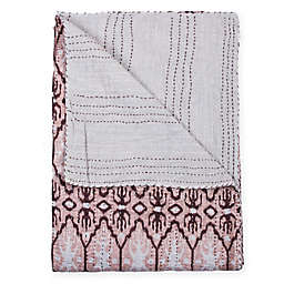Taj Hotel Kantha Oversized Throw Blanket