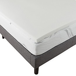 "Bluestone 2"" Memory Foam Mattress Topper in White"