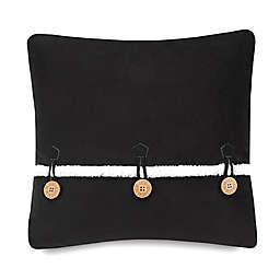 UGG® Bailey Button Square Throw Pillow in Charcoal
