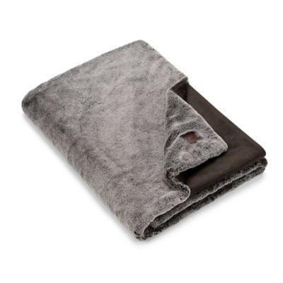 054f136f75a Ugg Graystone Stripe Faux Fur Throw Blanket In Grey – Crochet ...