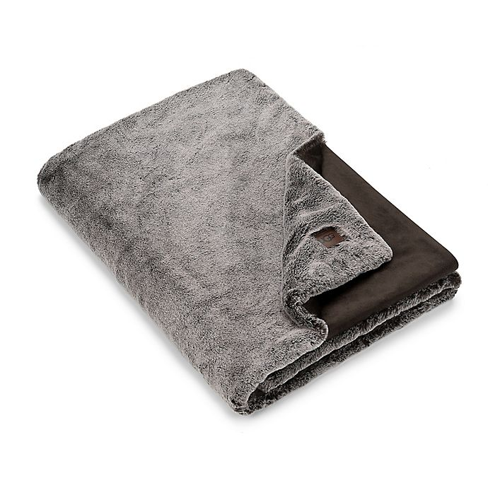 Alternate image 1 for UGG® Dawson Faux Fur Throw Blanket