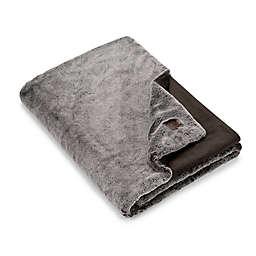 UGG® Dawson Faux Fur Throw Blanket in Chocolate