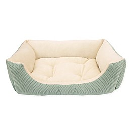 Paws & Claws 24-Inch x 20-Inch Cuddler Pet Bed in Mineral