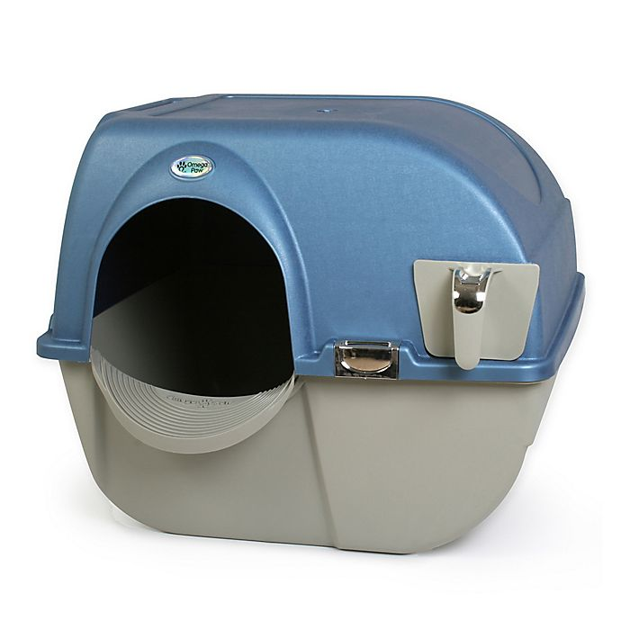 Alternate image 1 for Omega Paw Roll 'N Clean™ Large Self Cleaning Litter Box in Brown/Pewter