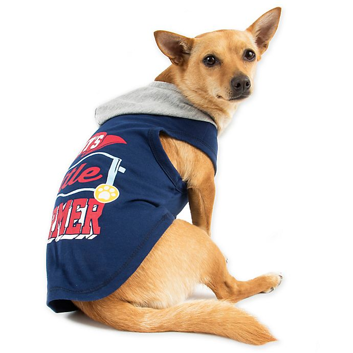 Alternate image 1 for Smoochie Pooch Small Mommy's Little Charmer Hoodie in Navy