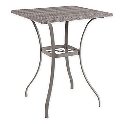 Wicker Square Balcony Table in Oyster
