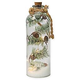 16-Inch Pre-Lit Pinecone Jar