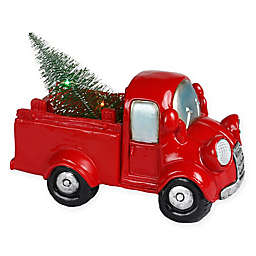 pre lit whimsy truck in red - Christmas Truck Decor