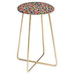 Deny Designs Faux Leather Upholstered Stool