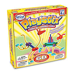 Popular Playthings 68-Piece Playstix Flexible Set