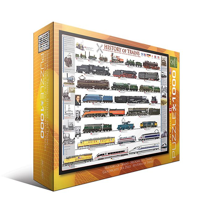 Alternate image 1 for EuroGraphics History of Trains 1000-Piece Jigsaw Puzzle