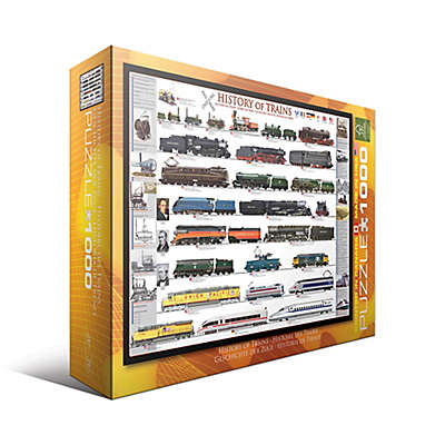 EuroGraphics History of Trains 1000-Piece Jigsaw Puzzle