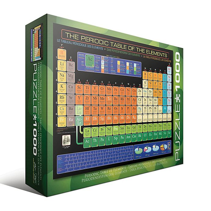 Alternate image 1 for EuroGraphics The Periodic Table of the Elements 1000-Piece Jigsaw Puzzle