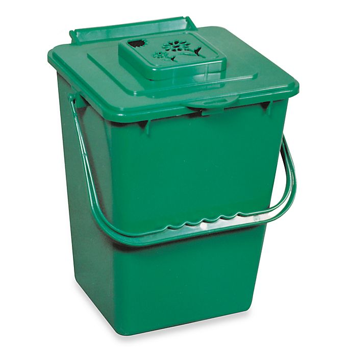 Alternate image 1 for Green Kitchen Compost Pail with Filter