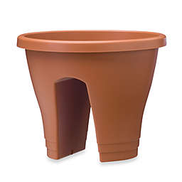Exaco Trading Co. Corsica Flower Bridge Planters in Terracotta (Set of 2)