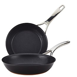 Anolon® Nouvelle Copper Luxe Nonstick Hard-Anodized Skillet Twin Pack