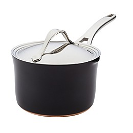 Anolon® Nouvelle Copper Luxe Nonstick 3.5 qt. Hard-Anodized Straining Saucepan