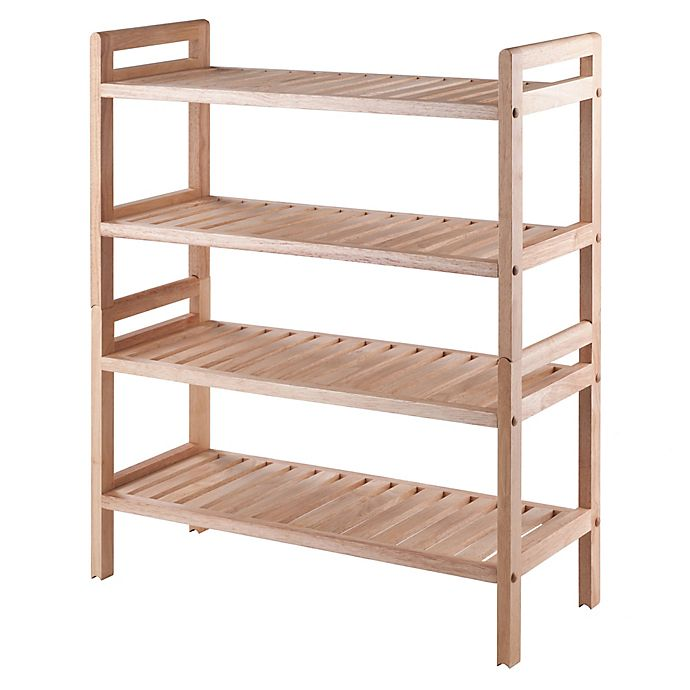 Alternate image 1 for Winsome Mercury 2-Piece Stackable Shoe Rack in Natural