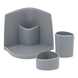 Silhouette 3-Piece Cosmetic Organizer in Grey