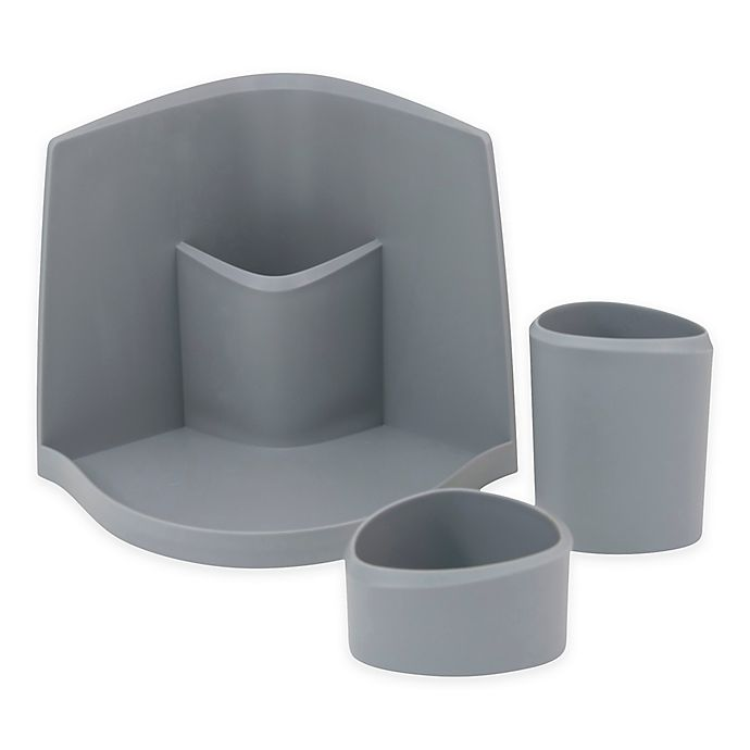Alternate image 1 for Silhouette 3-Piece Cosmetic Organizer in Grey