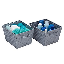 Honey-Can-Do® Task-It Woven Basket in Grey (Set of 2)