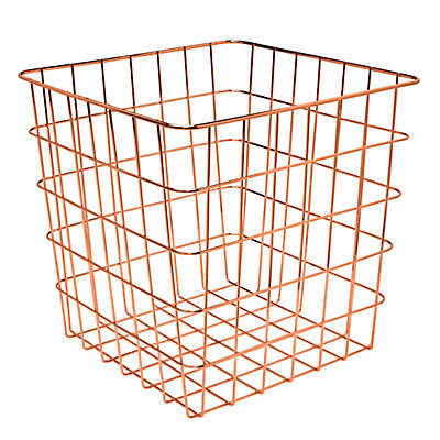 Honey-Can-Do® 13-Inch Square Wire Basket in Copper