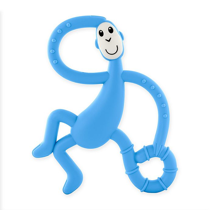 Alternate image 1 for Matchstick Monkey™ Dancing Monkey Teether in Light Blue